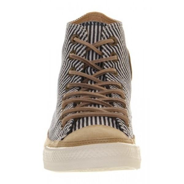 Converse Ctas Hi Premium Hickory Stripe Natural Leather Women's Shoes