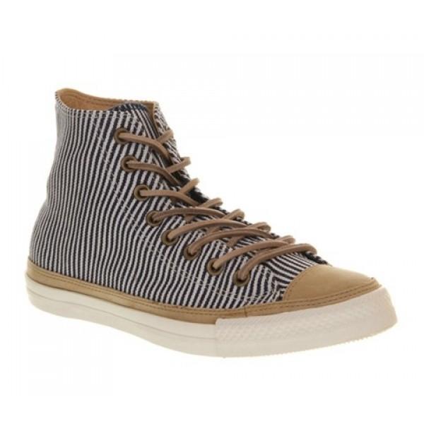 Converse Ctas Hi Premium Hickory Stripe Natural Le...