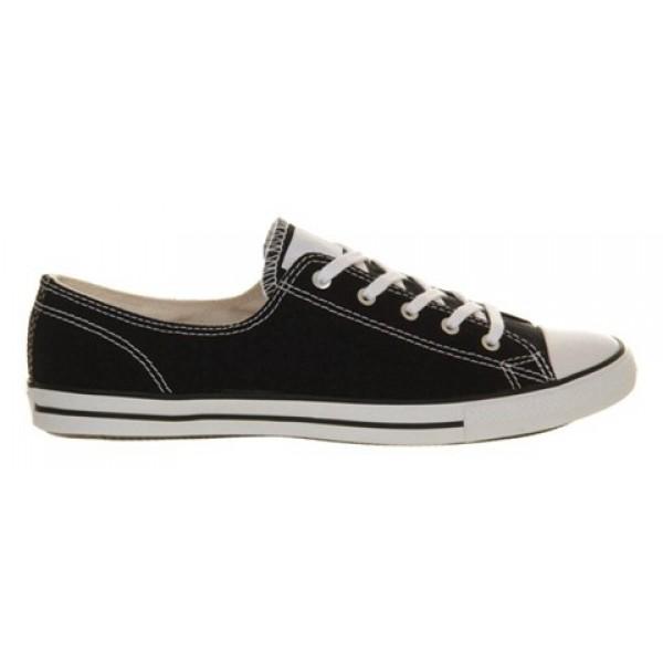 Converse Ctas Fancy Black White Women's Shoes