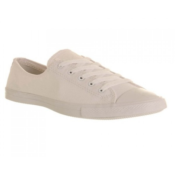 Converse Ctas Fancy White Mono Exclusive Women's S...