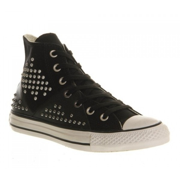 Converse Ctas Multi Panel Black Silver Studs Women's Shoes