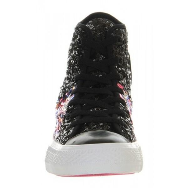 Converse Ctas Multi Panel Black Multi Sequin Women's Shoes