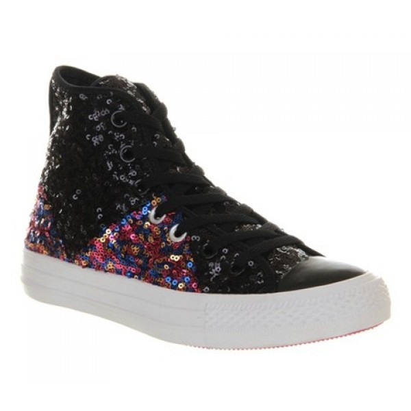 Converse Ctas Multi Panel Black Multi Sequin Women...