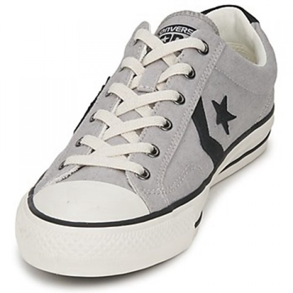 Converse Star Player Ox Grey Clear Black Men's Shoes