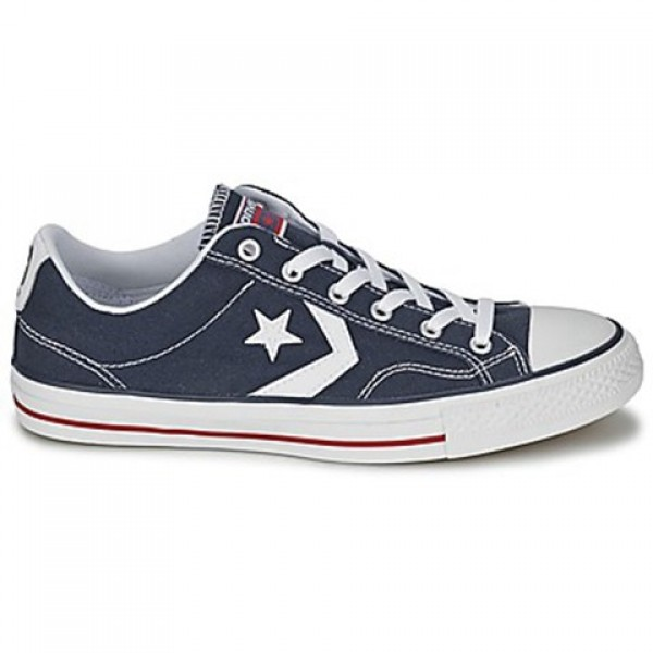 Converse Star Player Core Canv Ox Marine White Men...