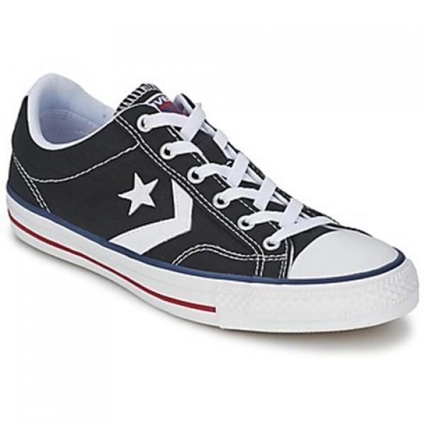 Converse Star Player Core Canv Ox Black White Men's Shoes