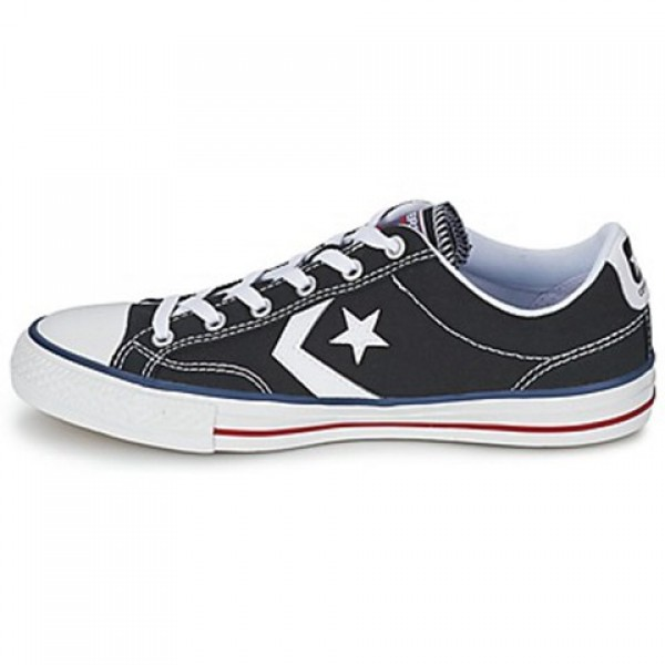 Converse Star Player Core Canv Ox Black White Men's Shoes