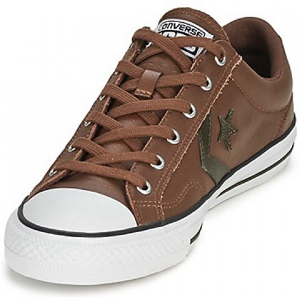 Converse Star Player Leather Ox Chocolate Kaki Men's Shoes