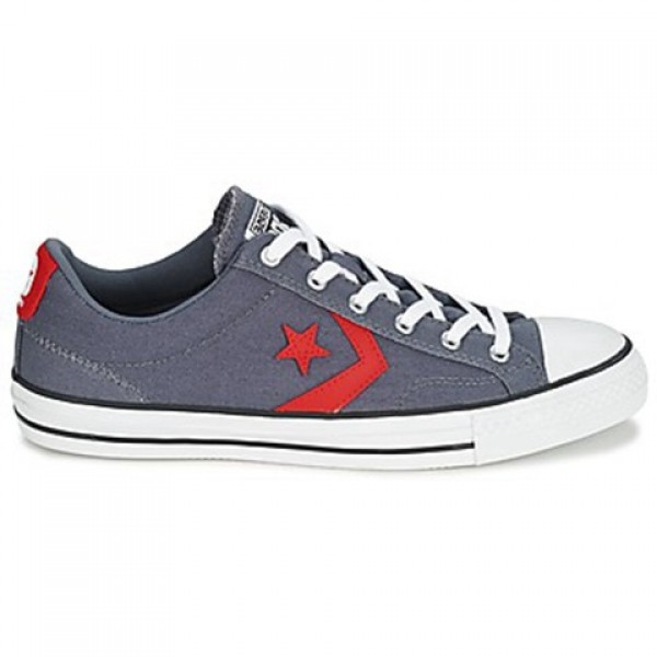 Converse Star Player Ox Grey Red Men's Shoes