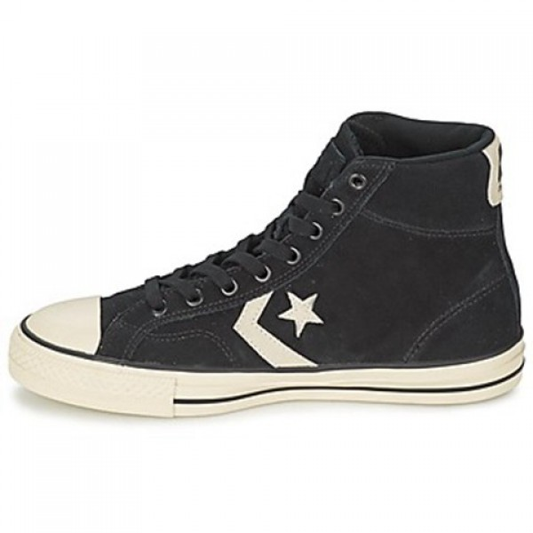 Converse Star Player Suede Hi Black Men's Shoes