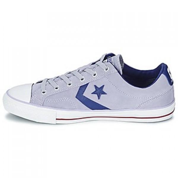 Converse Star Player Suede gravel Blue White Men's Shoes