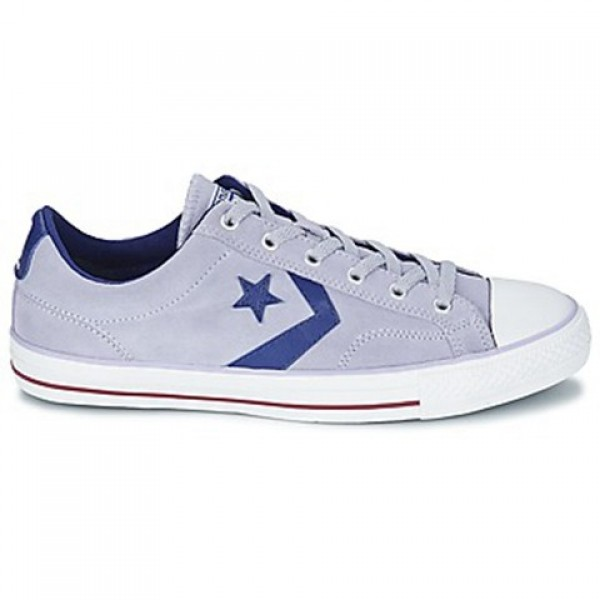 Converse Star Player Suede gravel Blue White Men's...