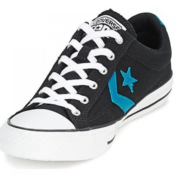 Converse Star Player Ox Black Blue Men's Shoes