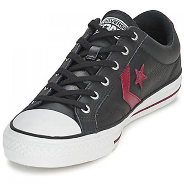 Converse Star Player Leather Ox Black Bordeaux Men's Shoes