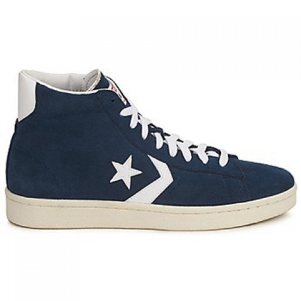 Converse Pro Leather Suede Mid Marine White Women's Shoes