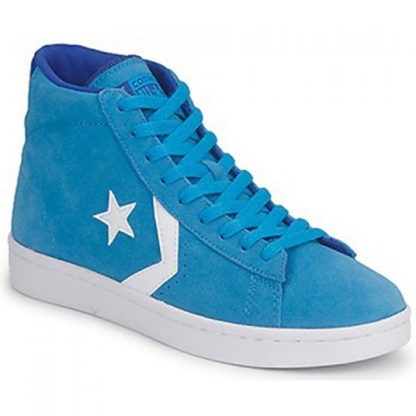 Converse Pro Leather Suede Mid Blue Water Women's Shoes