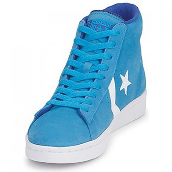 Converse Pro Leather Suede Mid Blue Water Men's Shoes