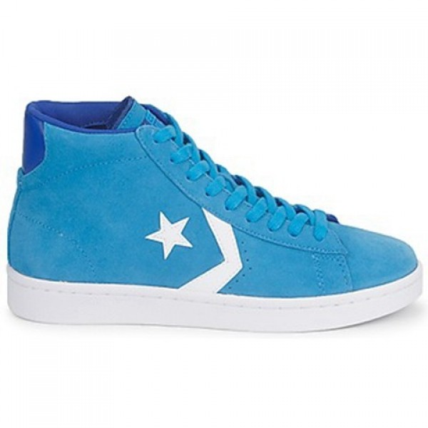 Converse Pro Leather Suede Mid Blue Water Men's Sh...