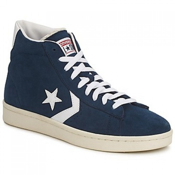 Converse Pro Leather Suede Mid Marine White Men's Shoes