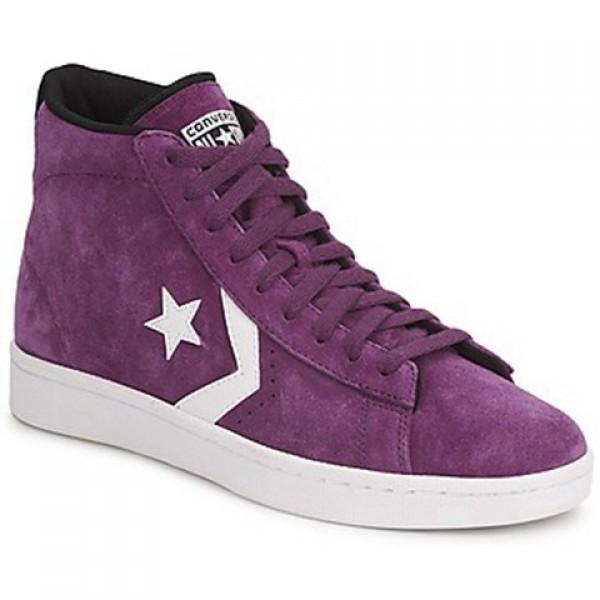 Converse Pro Leather Suede Mid Purple Women's Shoes