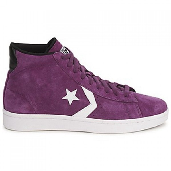 Converse Pro Leather Suede Mid Purple Women's Shoe...